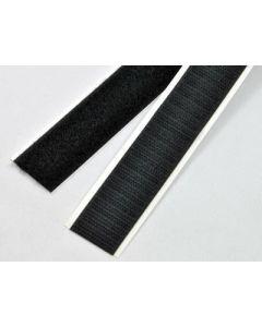 Zelfklevend zwart klittenband