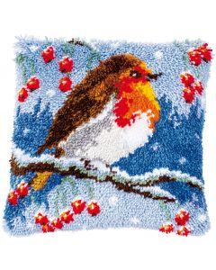 Knoopkussen pakket roodborstje in de winter van Vervaco pn-0186012