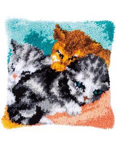Knoopkussen pakket snoezelige kittens van Vervaco pn-0186000