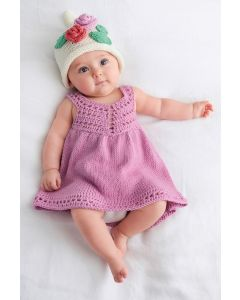 Lana Grossa baby jurkje breien en haken van Soft cotton (Infanti edition 2, m12)