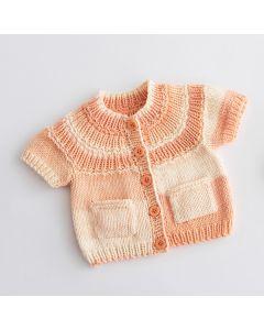 Lana Grossa baby vestje breien van Soft Cotton Degrade (Infanti edition 2, m5)