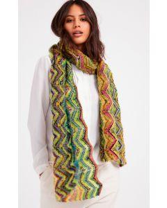 Lana Grossa sjaal breien van Silkhair en Colorissimo M14
