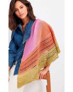 Lana Grossa Cool Wool Lace hand-dyed omslagdoek breien M1
