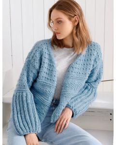 Lana Grossa dames vest in patroonmix breien van Per Lei (easy, m5)