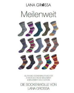 Gratis patroon sokken breien de basis van Lana Grossa Meilenweit