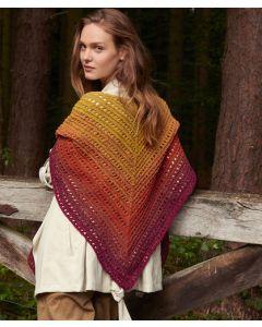 Lana Grossa sjaal van Shades of Tweed (m8)