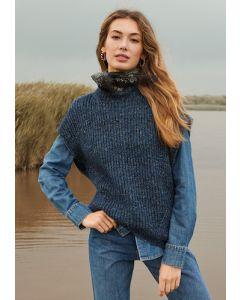 Lana Grossa slipover van Ecopuno Tweed breien M38