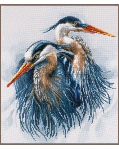 Lanarte borduurpakket grote blauwe reigers pn-0185890 borduren