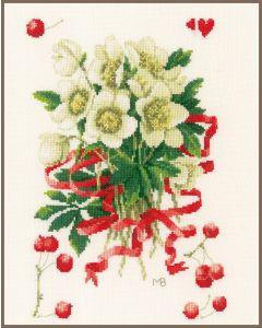 Lanarte borduurpakket helleborus met bessen pn-0183502 van Marjolein Bastin borduren