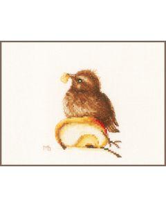 Lanarte borduurpakket jong mereltje pn-0188018 van Marjolein Bastin borduren