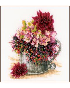 Lanarte borduurpakket klein roos boeketje pn-0185110 borduren
