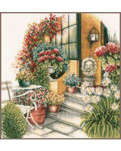 Lanarte borduurpakket terras in herfstbloei pn-0008016 borduren