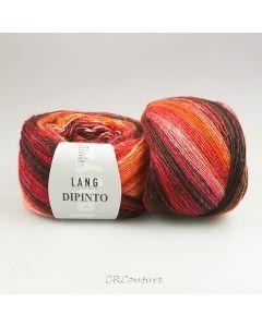 Lang Yarns Dipinto kl.61 rood/oranje tinten