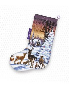 Borduurpakket kerstsok kerstavond Letistitch  948