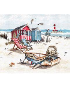 Borduurpakket strand om te borduren leti 972
