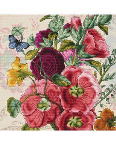 Luca-s borduurpakket zomer bloemen om te borduren b2366