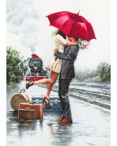 Luca-s borduurpakket Couple on Train Station om te borduren b2369