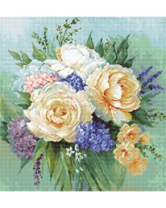Luca-s borduurpakket boeket bloemen om te borduren b2370