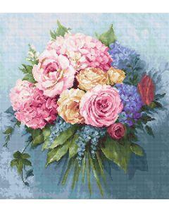 Luca-s borduurpakket boeket bloemen om te borduren b2371