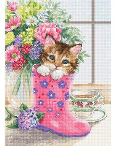 Luca-s borduurpakket pretty kitten om te borduren b2390