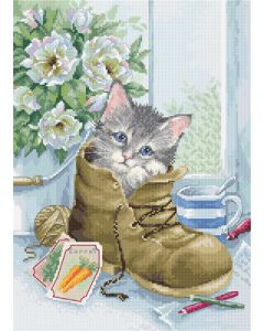 Luca-s borduurpakket cute kitten om te borduren b2391