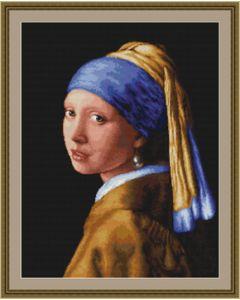 Borduurpakket meisje met de parel Johannes Vermeer  van Luca-s
