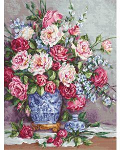 Luca-s borduurpakket Her Majesty's Roses om te borduren B605