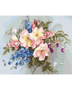 Luca-s borduurpakket Bouquet with Bells om te borduren ba2362