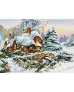 Luca-s borduurpakket winter landschap om te borduren BU5001