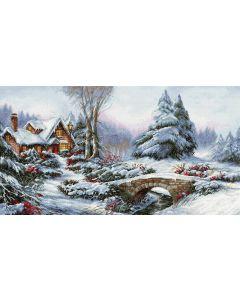 Luca-s borduurpakket winter landschap om te borduren BU5002