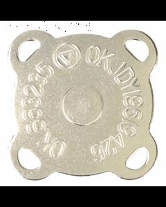 Magneetknopen aannaaibaar zilverkleurig.