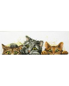 Voorbedrukt borduurpakket kittens op aida Needleart World 250.003