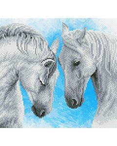 Voorbedrukt borduurpakket horse prayer op aida Needleart World 450.042