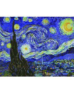 Voorbedrukt borduurpakket starry night op aida Needleart World 650.040