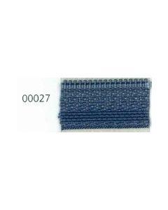 Opti Ritssluiting deelbaar bloktand kl.027 grijsblauw