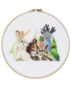 Pako borduurpakket dierenfeest 212.355 om te borduren