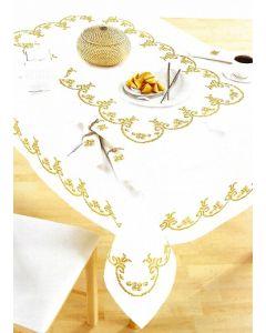 Pako borduurpakket voorbedrukt tafelkleed krullen 319.417 150x260cm borduren
