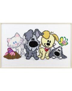 Pako borduurpakket Woezel & Pip en vrienden 271.045 borduren