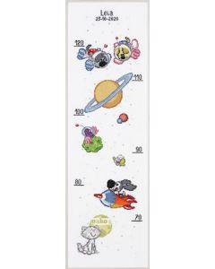 Pako Woezel en Pip borduurpakket in de ruimte 271.053 groeimeter