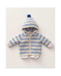 Phildar baby gestreept vestje breien van Phil Cabotine (196, M35)