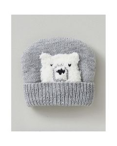 Phildar baby mutsje met ijsbeer breien (200, m24c)
