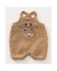 Phildar baby rendier kruippakje breien van Phil Baby Doll en Cotton 3 (196, m36)