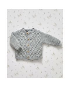Phildar baby vestje met kabels breien van Partner Baby (703, M14)