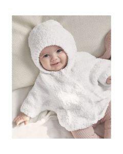 Phildar baby zacht vest met capuchon breien van Phil Douce (200, m27)