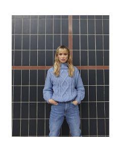 Phildar dames kabeltrui breien van Phil Light (201, m29)