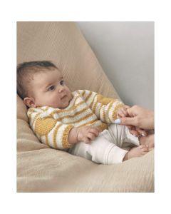 Phildar gestreept baby vestje breien van Phil Ecolaine (200, m20)