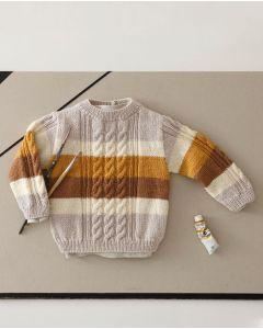 Phildar peuter trui met kabels breien van Merinos 3.5 (193,m24)