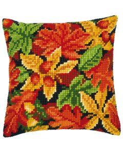 Vervaco kruissteek borduurpakket kussen herfstbladeren pn-0008640 borduren