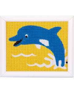 Borduurpakket  dolfijn voorbedrukt voor kinderen Vervaco pn-0009578