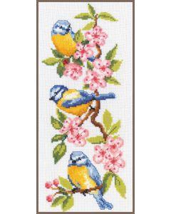 Vervaco vogels op bloesem gratis borduurpatroon!